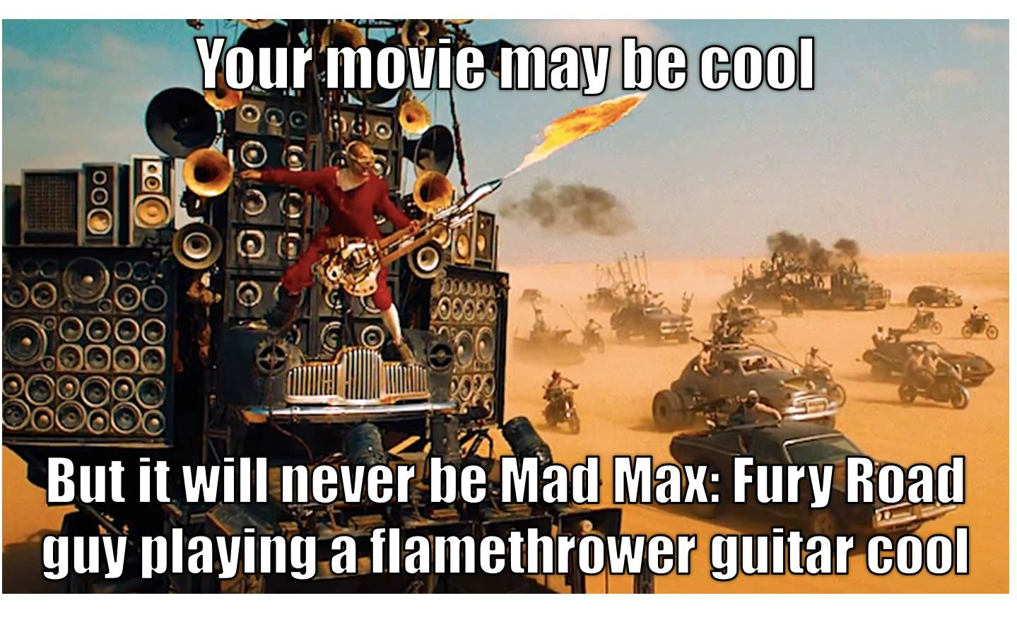 Mad Max Fury Road guy playing guitar cool meme